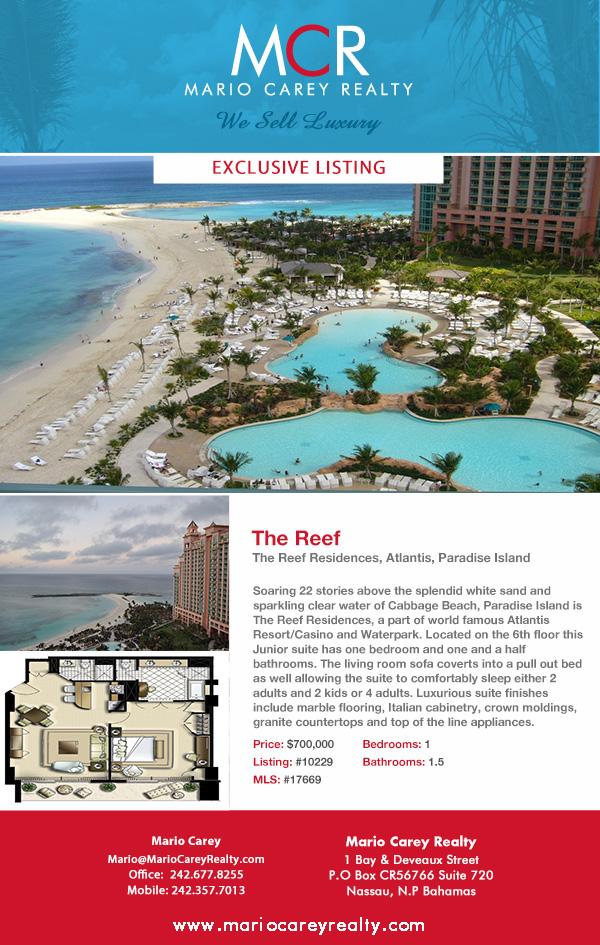 The Reef Condominimum, Atlantis, Paradise Island