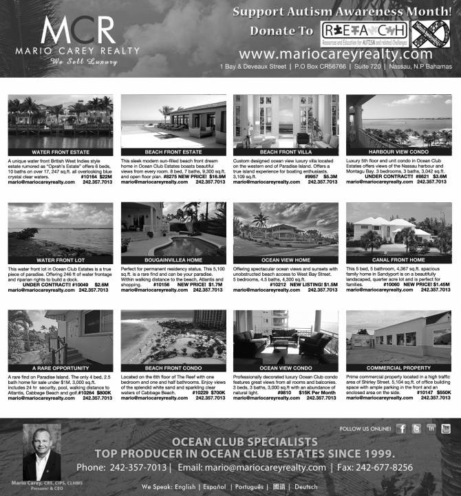 Luxury Properties For Sale & Rent in Ocean Club Estates, Paradise Island, Sandy Port, & West Bay Street.