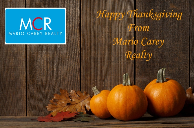 BAHAMAS REAL ESTATE | HAPPY THANKSGIVING FROM MARIO CAREY REALTY