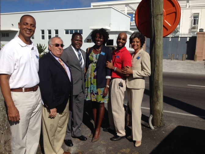 Jan 29th, 2013- Mario Carey Realty Attends the Opening of The Bahamas Real Estate Association (BREA) New Office on Shirley Street. Pictured (L to R): Sheldon Pitt (Estate Agent), Michael Mosko (VP of BREA), Khaalis Rolle (Minister of State for Investments),Terrinique Pennerman (Marketing Manager), Prince Lewis (Personal Assistant to Mario Carey) and Sharon Ferguson (Operations Manager).