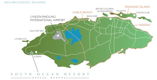 South Ocean Resort Map