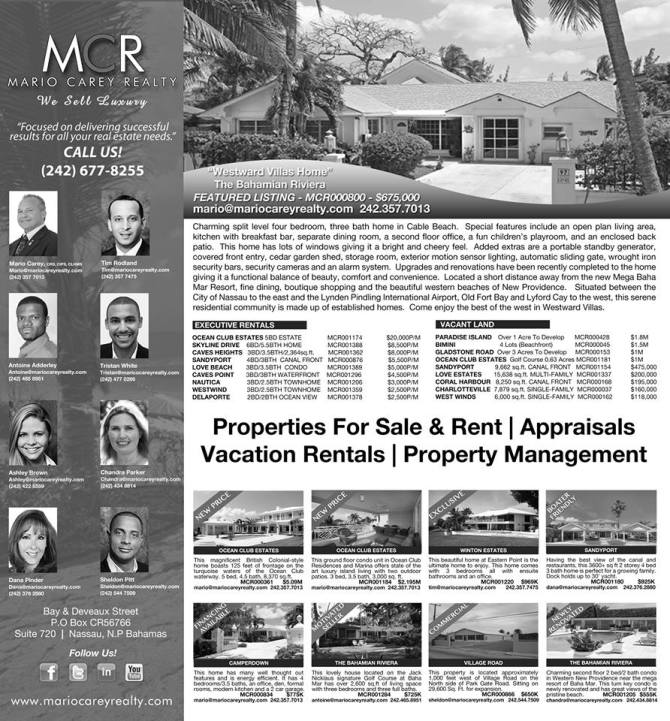 Bahamas Real Estate | Mario Carey Realty's Choice Vacant Land, Executive Rentals and Properties For Sale
