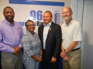 L-R: Architect Michael Diggiss (Co-Host); Engineer Lelawattee Manoo-Rahming (Host); Realtor Mario Carey (Guest); and Engineer Hammond Rahming (Co-Host).